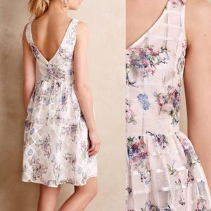 Anthropologie Maeve Peony Garden Fit n Flare Dress
